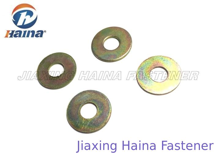 Carbon Steel Flat Washers Yellow Zinc Plated M8 M10 A Type Gr4 / G8 For Automobile