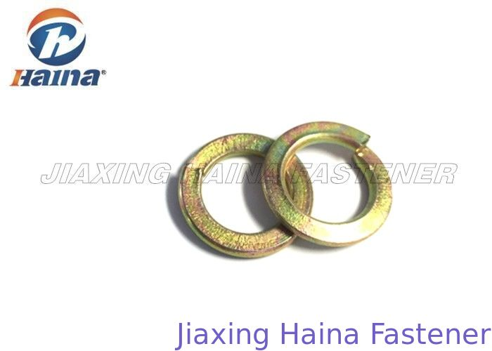 Spring Steel Washers Yellow Zinc Plated , Carbon Steel Washers Customized