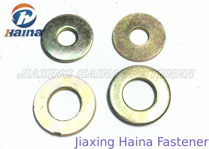 Color Plated Flat Washers Plain Carbon Steel Round Head For Iron Stamping Out